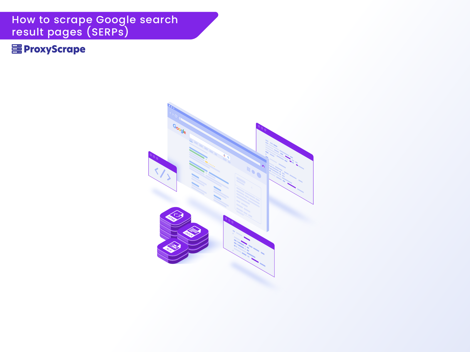 How to scrape Google search result pages