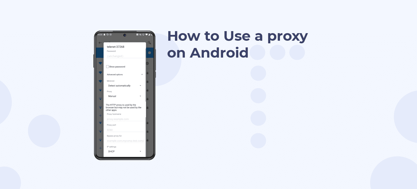 how to use a proxy on android