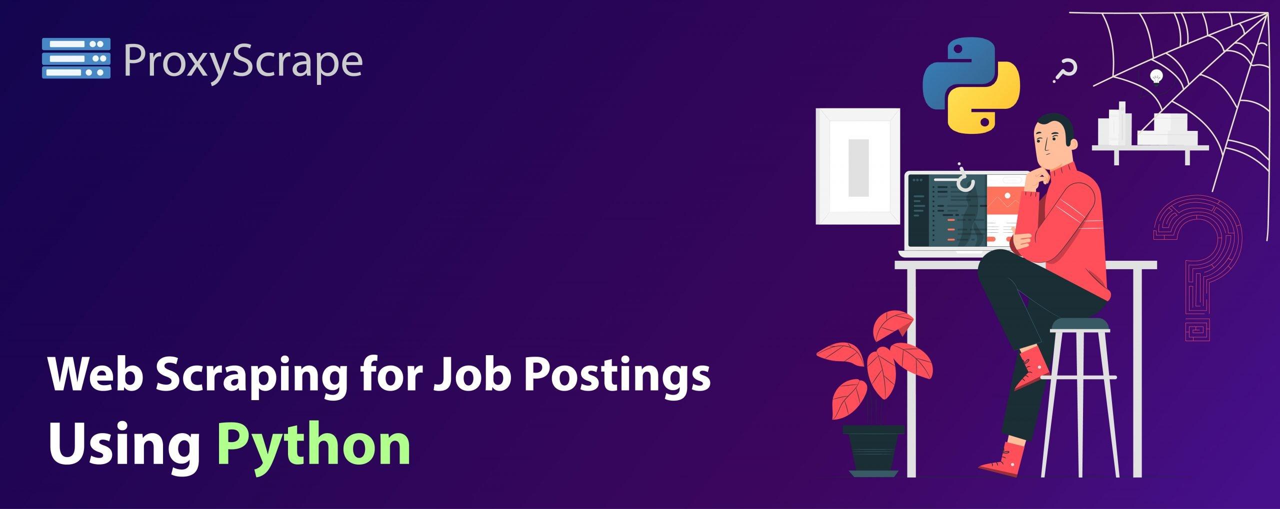 web scraping for job postings