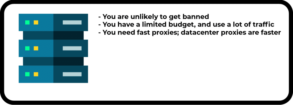 when you should use datacenter proxies